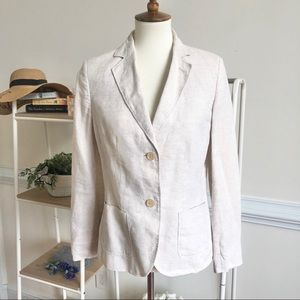 Brooks Brothers khaki linen blazer